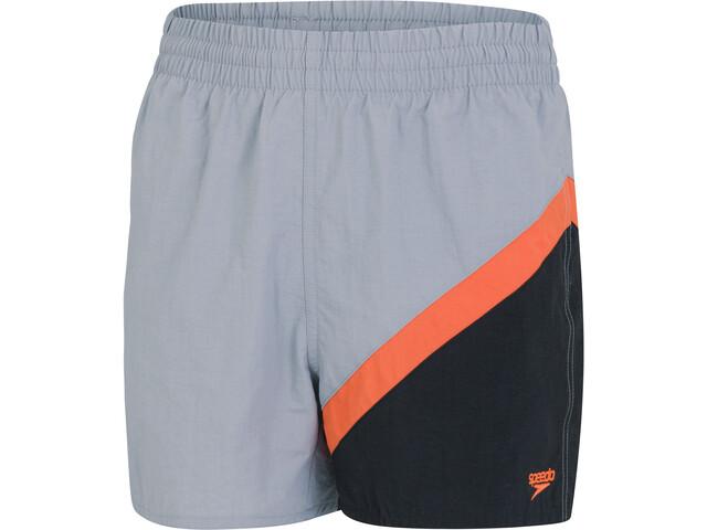 "speedo Colourblock 13"" Watershorts Boys, shark grey/volcanic orange"